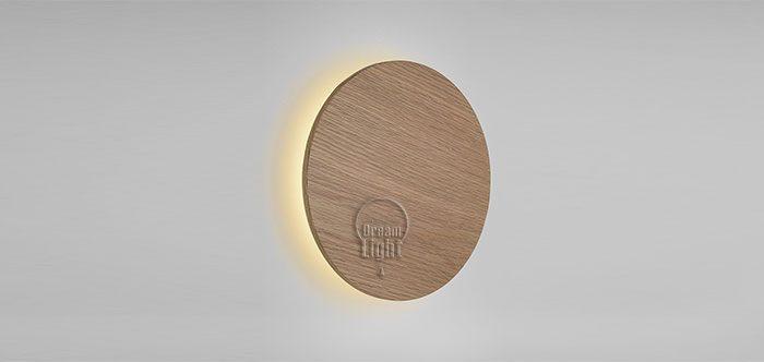 צלחת קיר עץ אלון
