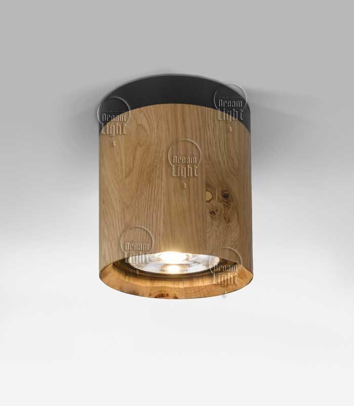 """גוף תאורה צילינדר עץ """"פאר"""""""