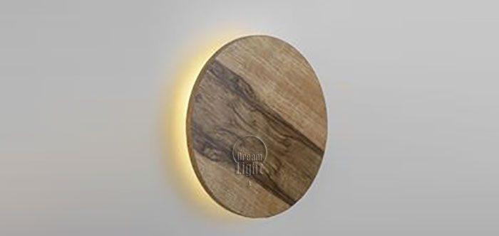 צלחת קיר עץ אגוז אפריקאי
